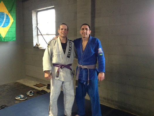 Gary and Byron as purple belts