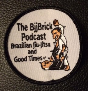 At the end of the podcast we give details of how you can win a BjjBrick Podcast gi patch.