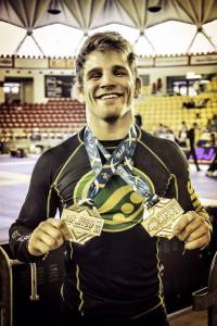 Gold lightweight and absolute title for the 2014 NoGi European Championship