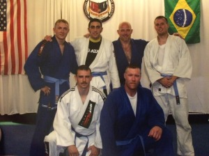 Gary and Byron with their new blue belts.