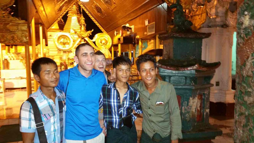 Here is on of my favorite pictures from my trip to Burma. The guy to my left is trying to pick my pocket.